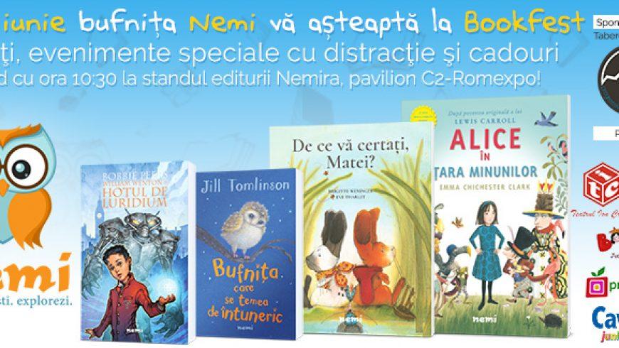 Pe 1 iunie vă invităm în lumea bufniței Nemi la Bookfest!