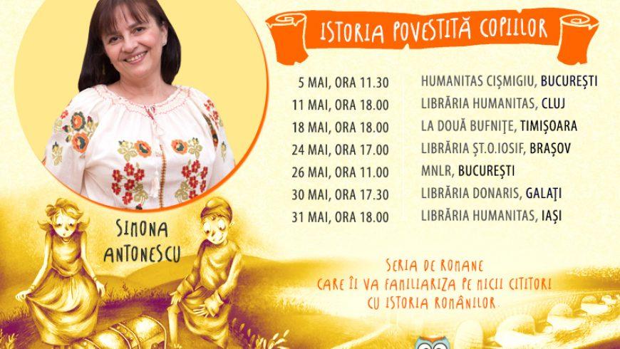 """Scriitoarea Simona Antonescu în turneu de promovare a seriei """"Istoria povestită copiilor"""""""