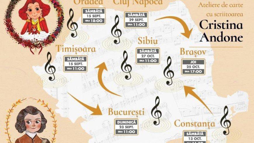 Scriitoarea Cristina Andone aduce Poveștile din Pădurea Muzicală mai aproape de copii