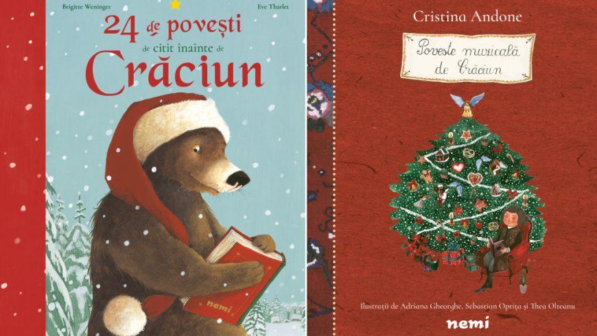 Poveste muzicală de Crăciun și 24 de povești de citit înainte de Crăciun – noutățile Nemi la Gaudeamus