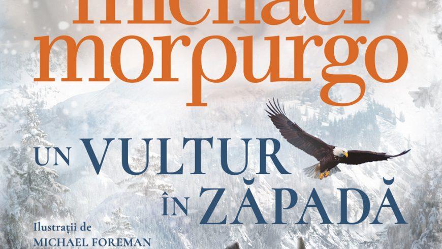 Un vultur în zăpadă