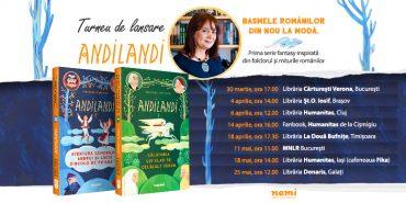 Scriitoarea Sînziana Popescu în turneu de promovare cu seria fantasy pentru copii ANDILANDI