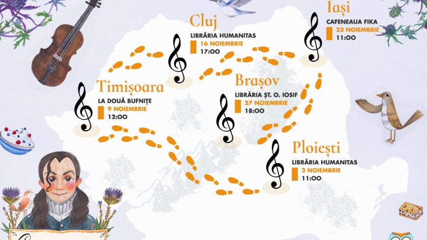 Vino să-l cunoști pe Paganini!  Turneu de lansare în țară, alături de Cristina Andone