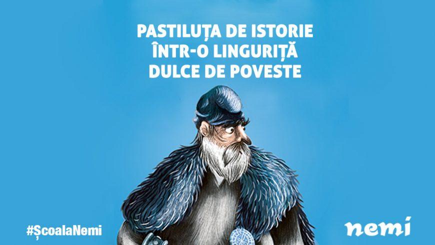 Pastiluța de istorie într-o linguriță dulce de poveste, cu Simona Antonescu – #NemiȘcoala