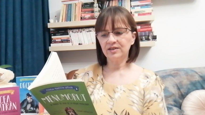 Simona Antonescu le citește copiilor care stau acasă!