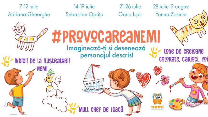#ProvocareaNemi: Imaginează-ți și desenează personajul descris!