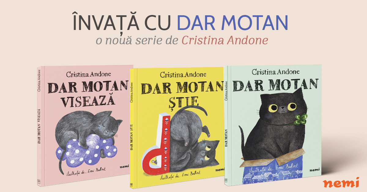 O nouă serie pentru copii de la Cristina Andone: Dar Motan